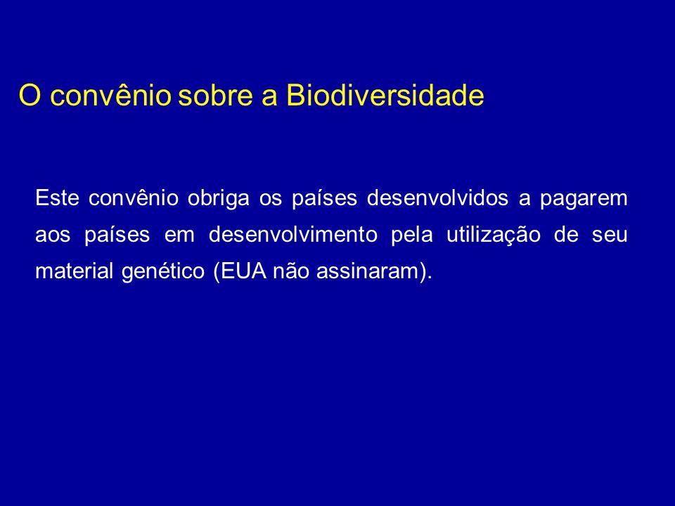 O convênio sobre a Biodiversidade