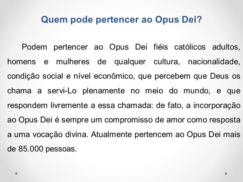 Quem pode pertencer ao Opus Dei