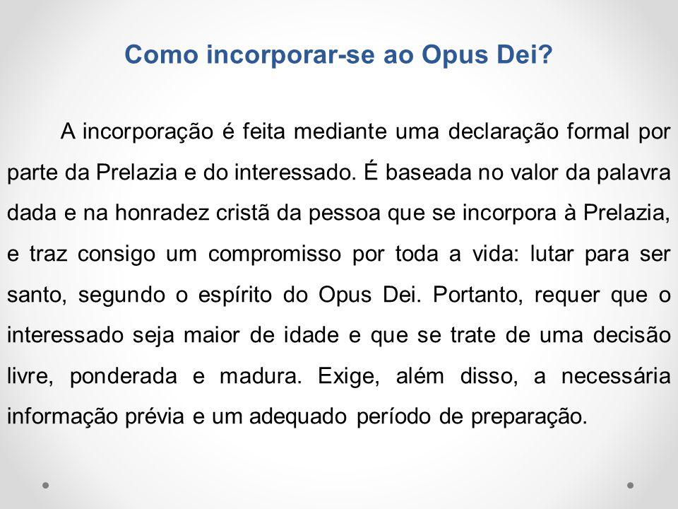 Como incorporar-se ao Opus Dei