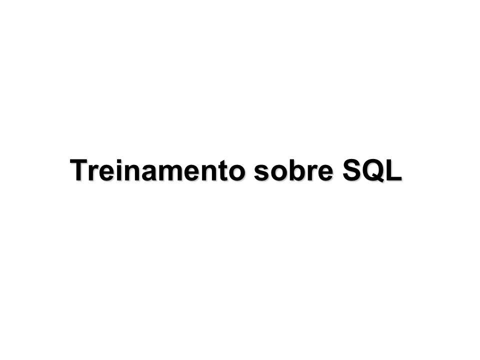 Treinamento sobre SQL