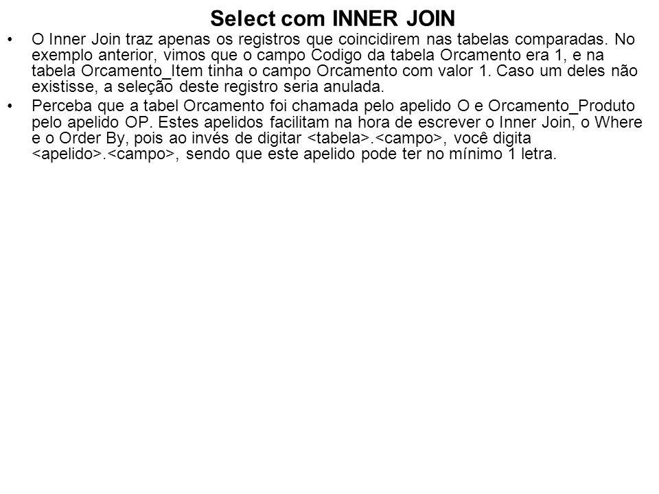 Select com INNER JOIN