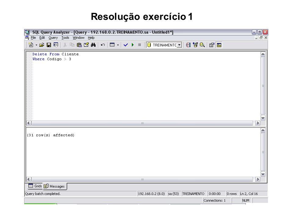 Resolução exercício 1