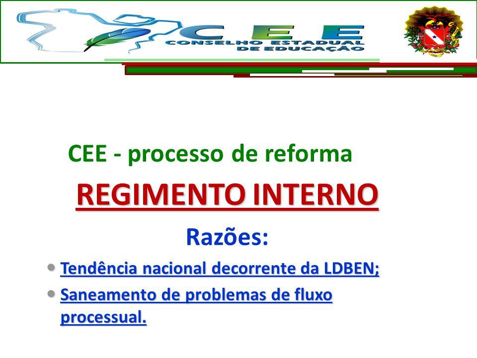 CEE - processo de reforma