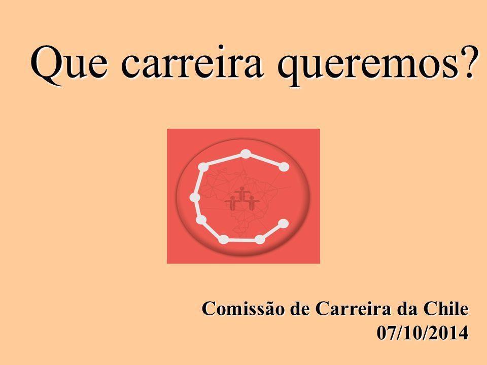 Que carreira queremos Comissão de Carreira da Chile 07/10/2014