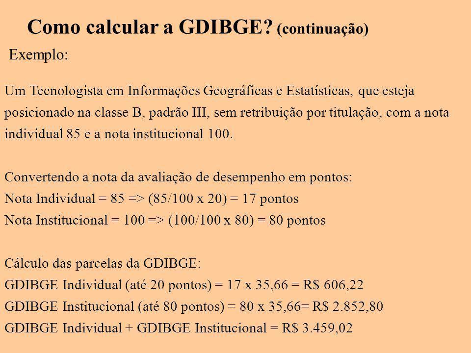 Como calcular a GDIBGE (continuação)