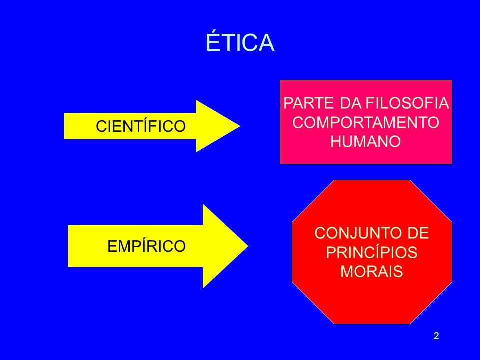 ÉTICA PARTE DA FILOSOFIA COMPORTAMENTO HUMANO CIENTÍFICO CONJUNTO DE