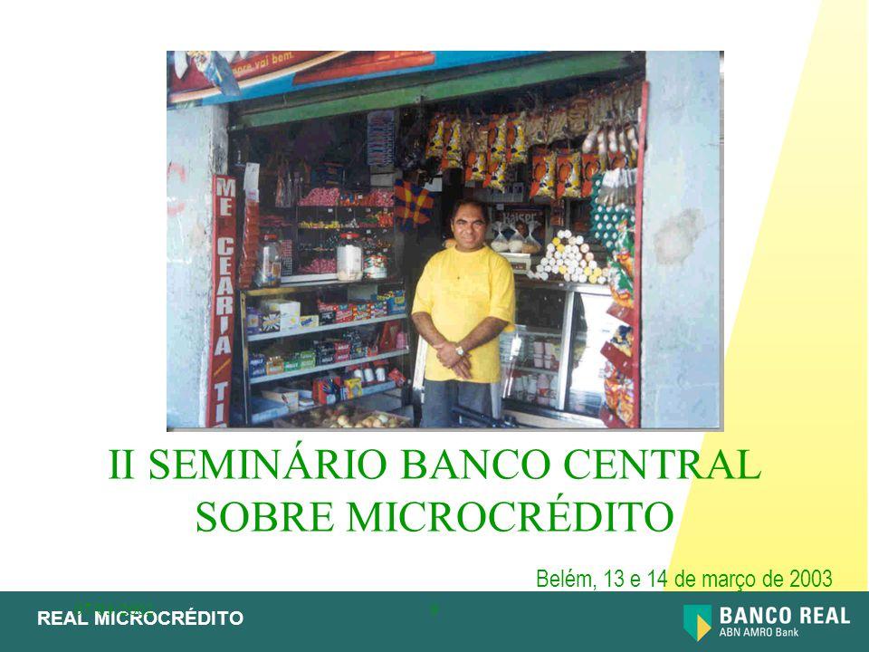 II SEMINÁRIO BANCO CENTRAL SOBRE MICROCRÉDITO