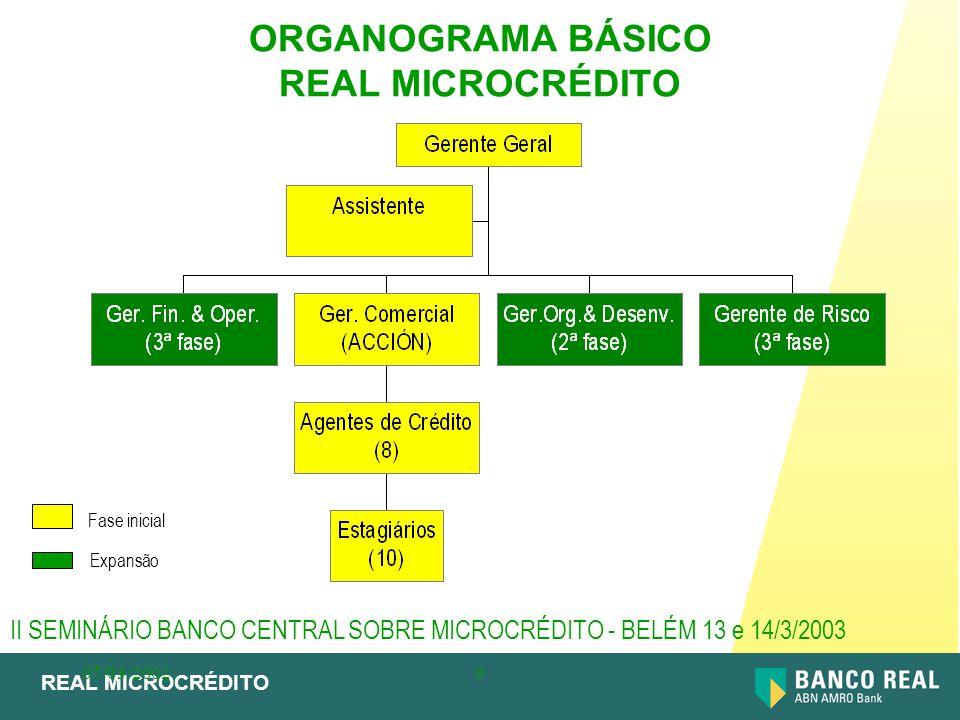 ORGANOGRAMA BÁSICO REAL MICROCRÉDITO