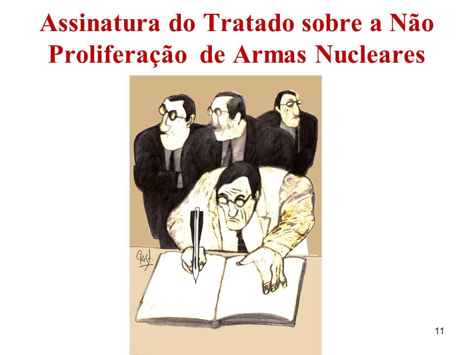 Assinatura do Tratado sobre a Não Proliferação de Armas Nucleares