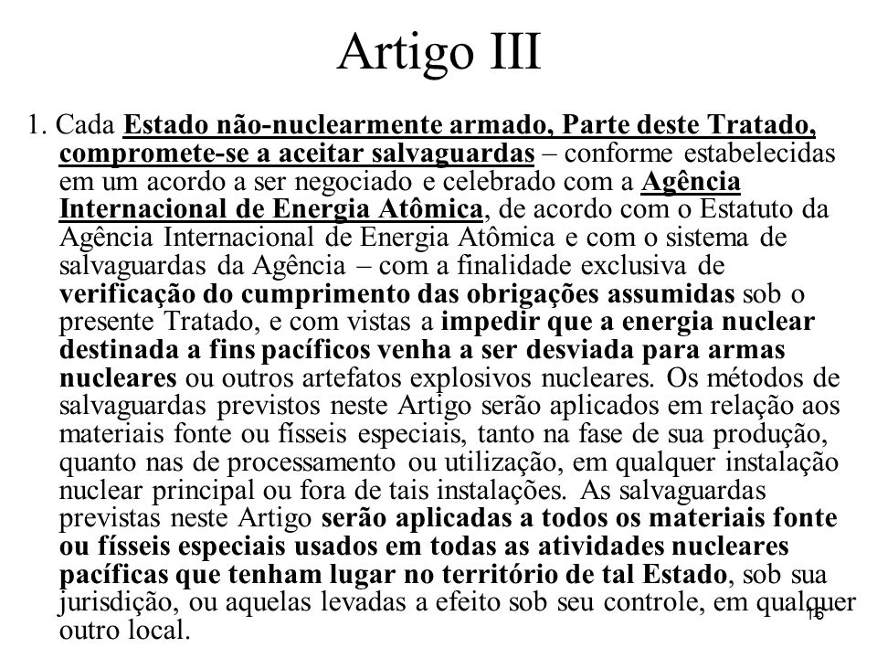 Artigo III