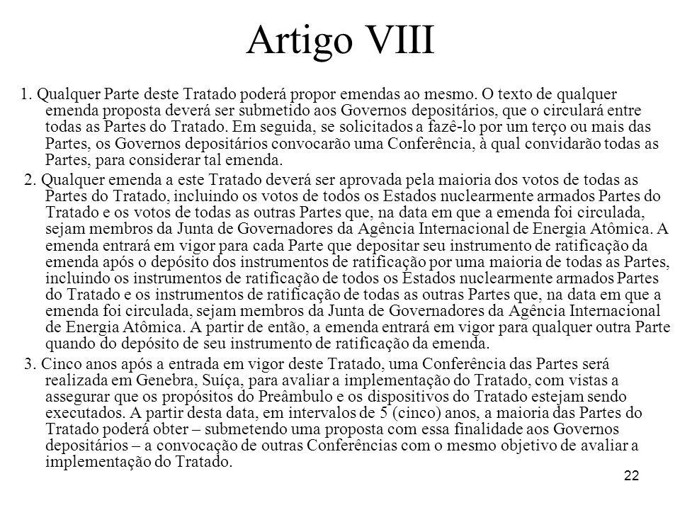 Artigo VIII