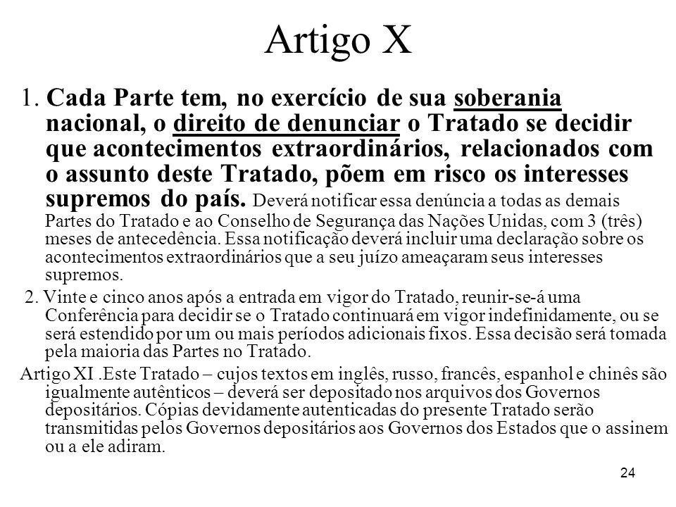 Artigo X
