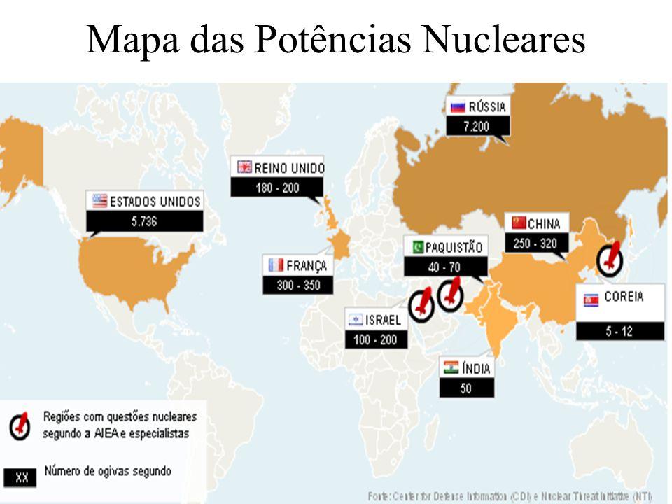 Mapa das Potências Nucleares