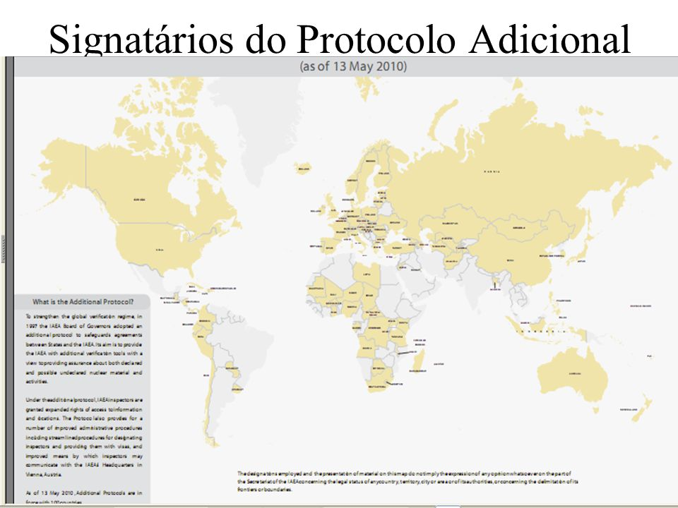 Signatários do Protocolo Adicional