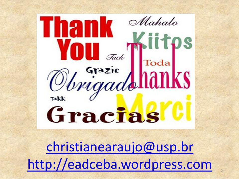 christianearaujo@usp.br http://eadceba.wordpress.com