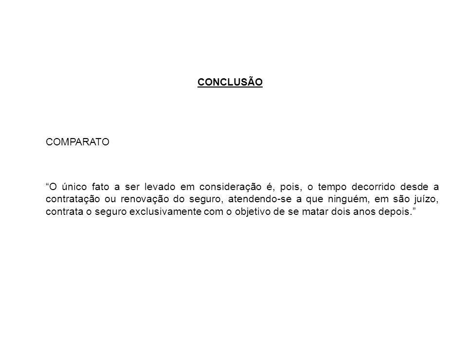 CONCLUSÃO COMPARATO.