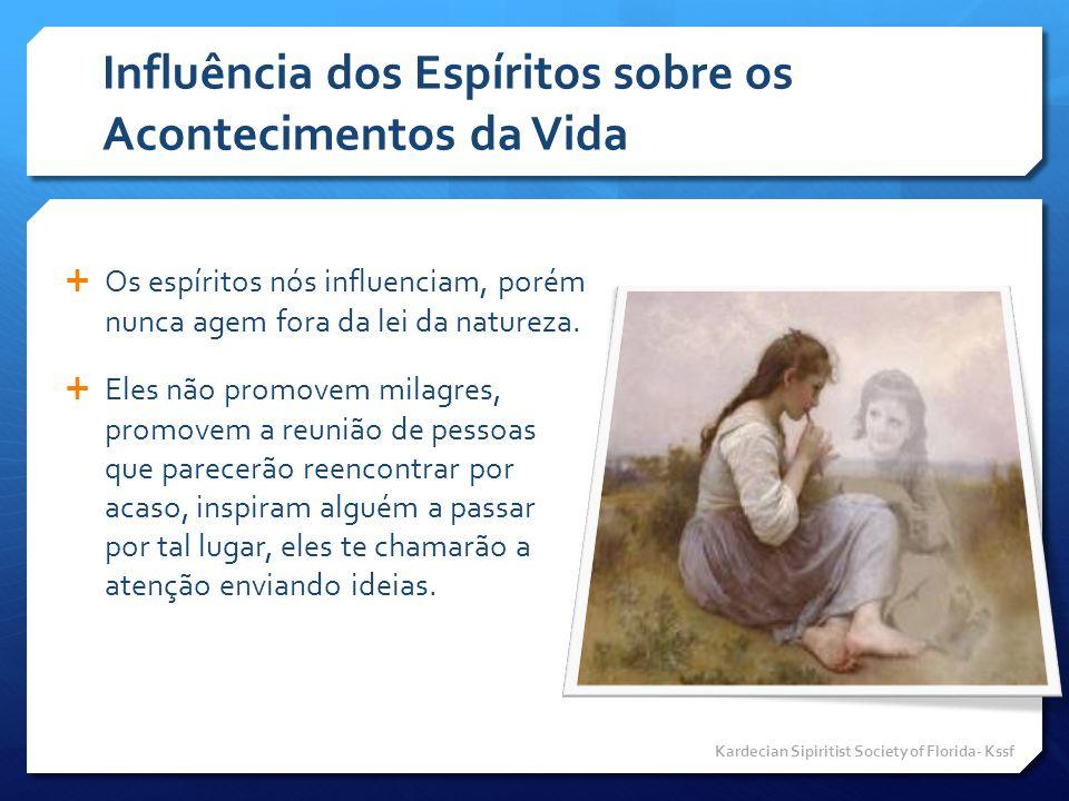 Influência dos Espíritos sobre os Acontecimentos da Vida