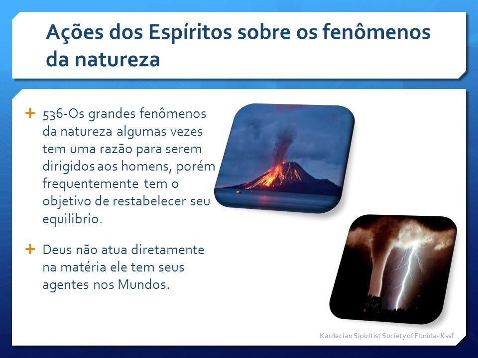Ações dos Espíritos sobre os fenômenos da natureza
