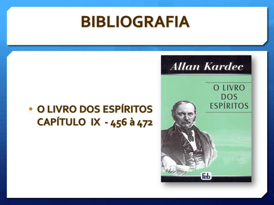 O LIVRO DOS ESPÍRITOS CAPÍTULO IX - 456 à 472