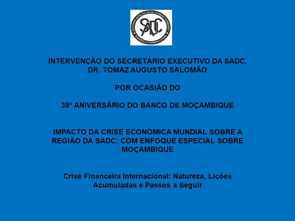 INTERVENÇÃO DO SECRETÁRIO EXECUTIVO DA SADC, DR. TOMAZ AUGUSTO SALOMÃO