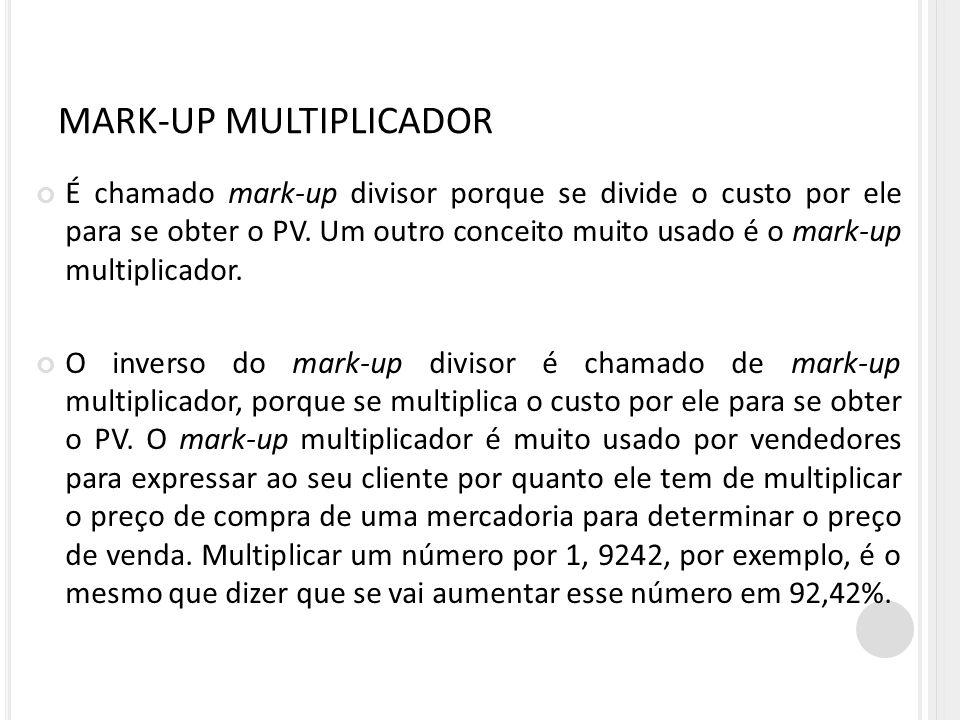 MARK-UP MULTIPLICADOR