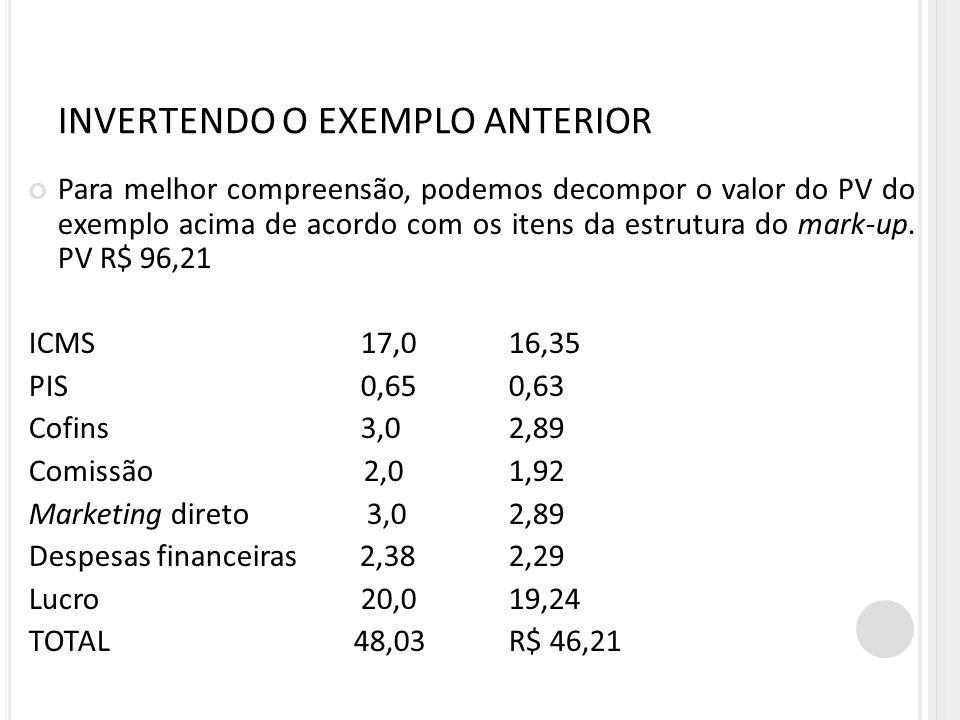 INVERTENDO O EXEMPLO ANTERIOR
