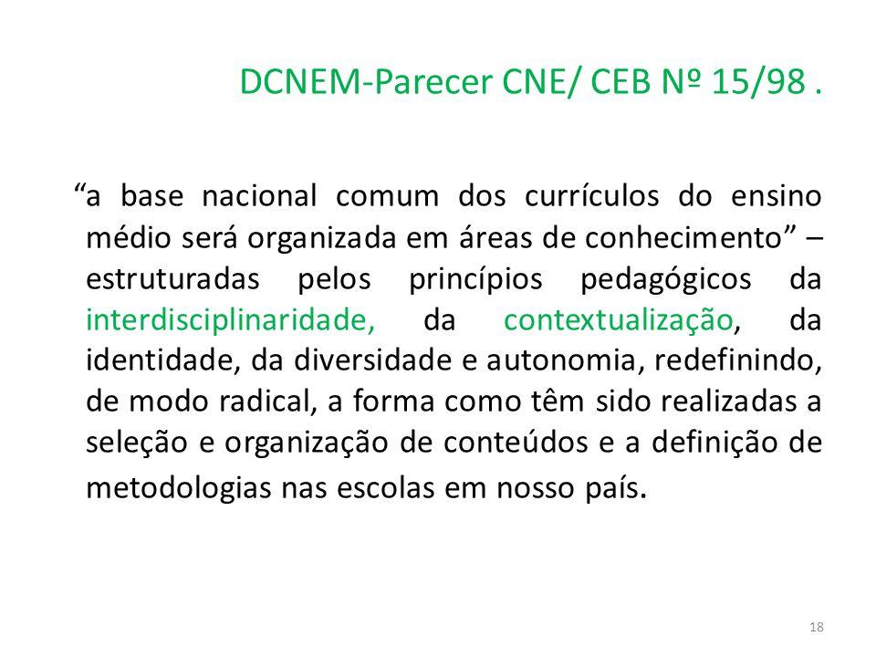 DCNEM-Parecer CNE/ CEB Nº 15/98