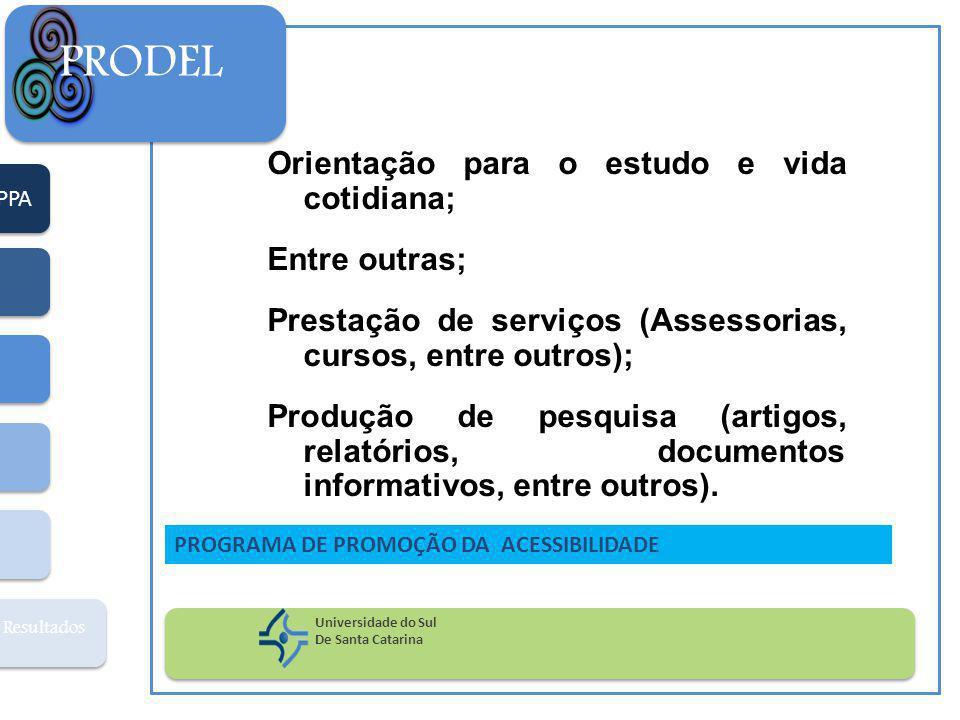 PRODEL Orientação para o estudo e vida cotidiana; Entre outras;