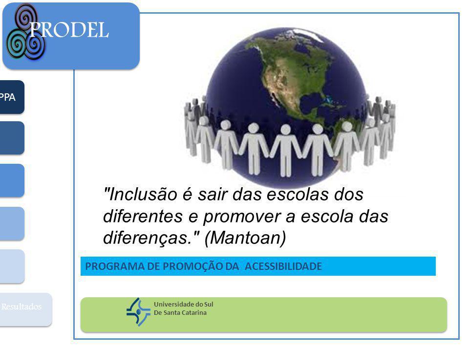 PRODEL PPA. Inclusão é sair das escolas dos diferentes e promover a escola das diferenças. (Mantoan)