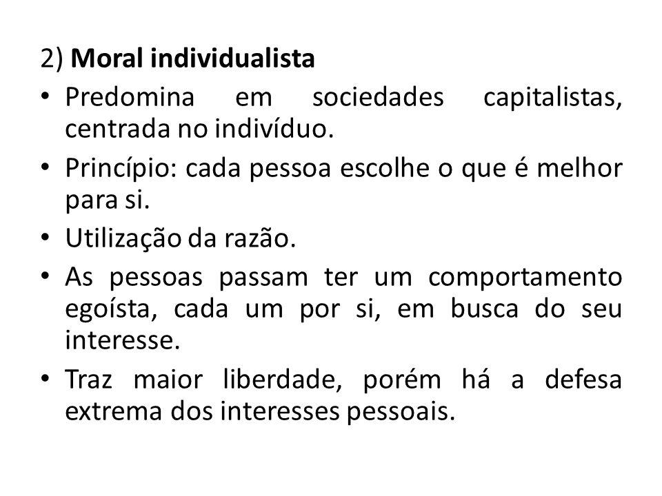 2) Moral individualista