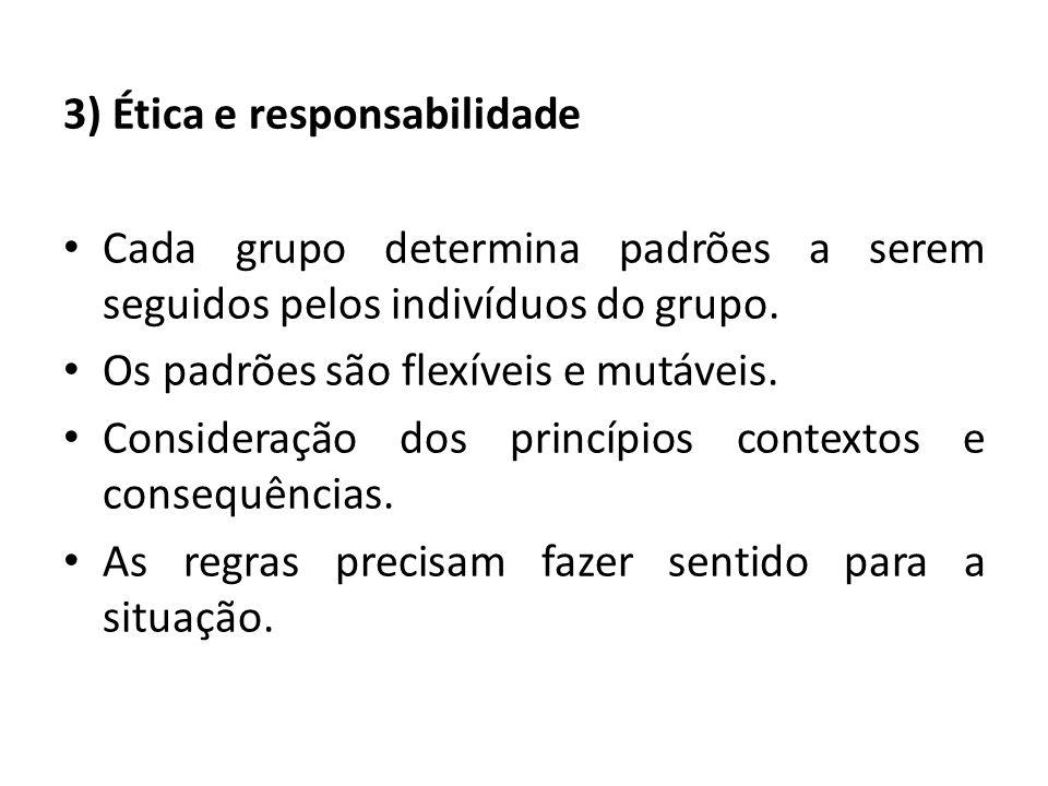 3) Ética e responsabilidade