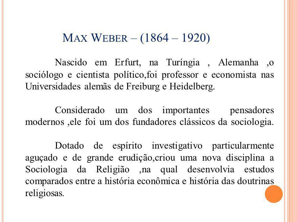Max Weber – (1864 – 1920)