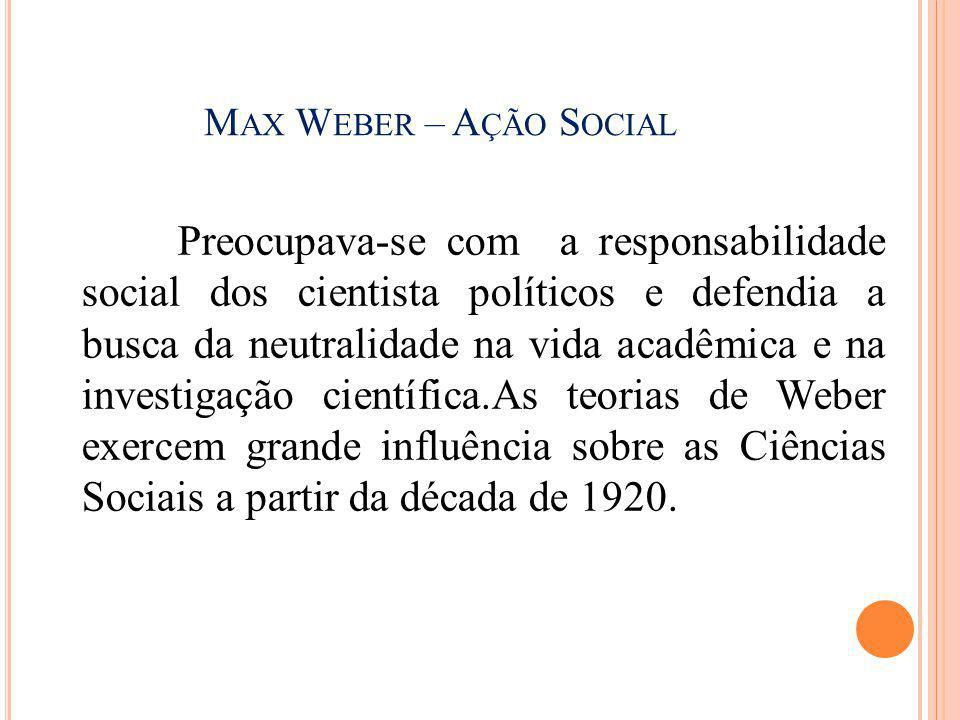 Max Weber – Ação Social