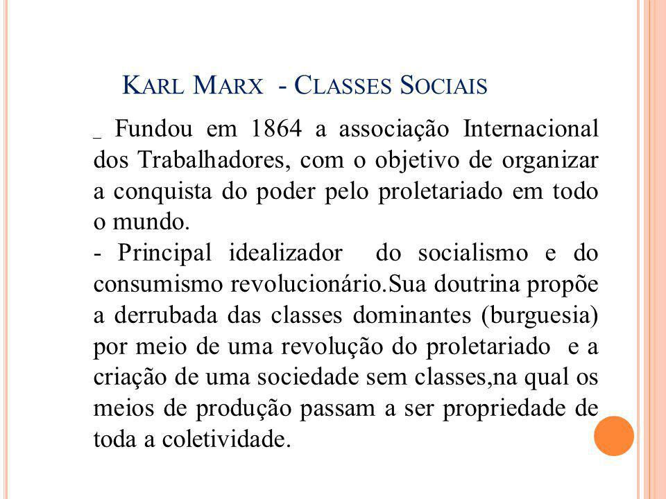 Karl Marx - Classes Sociais