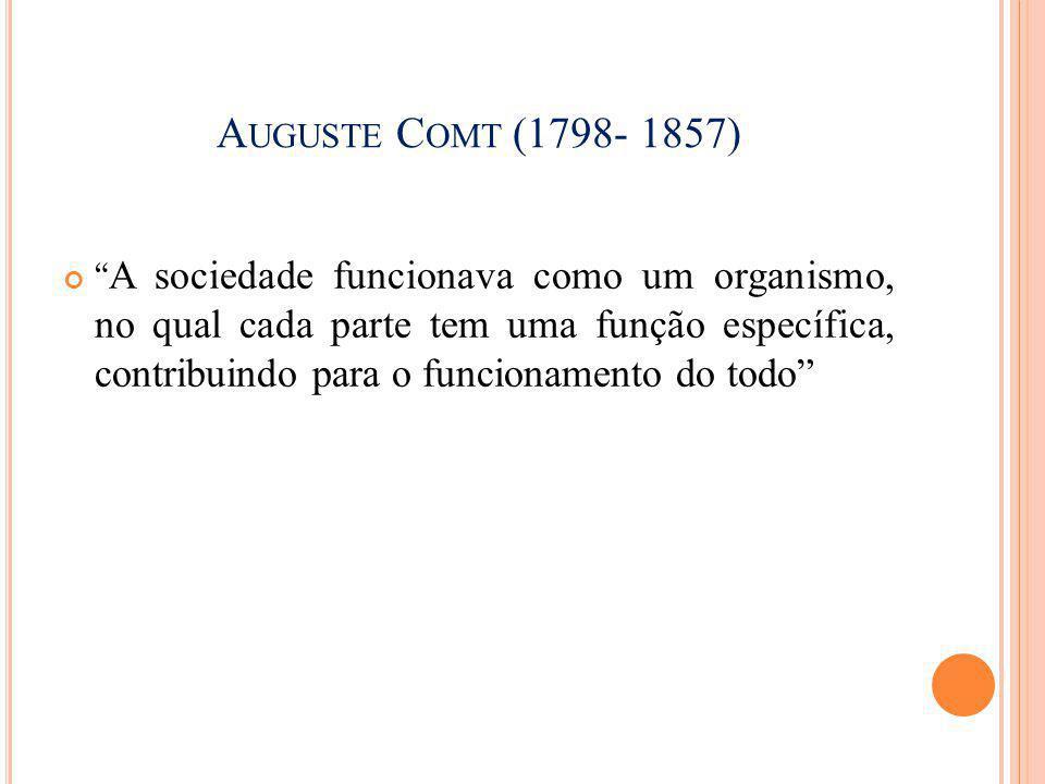 Auguste Comt (1798- 1857)