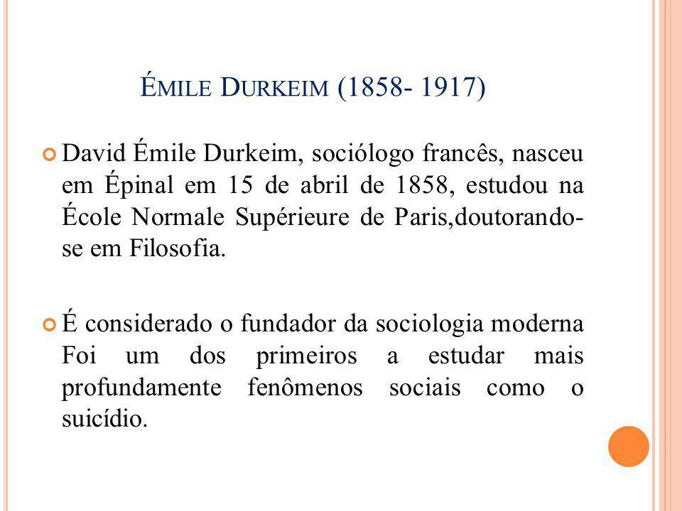 Émile Durkeim (1858- 1917)