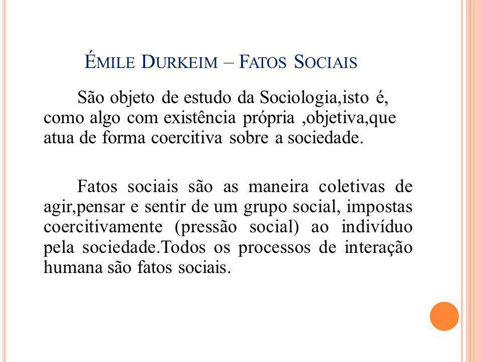Émile Durkeim – Fatos Sociais