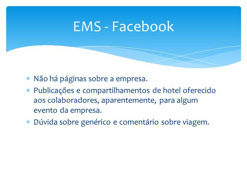 EMS - Facebook Não há páginas sobre a empresa.