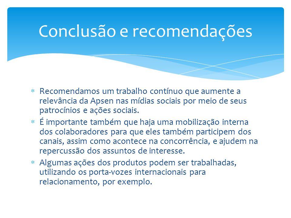 Conclusão e recomendações