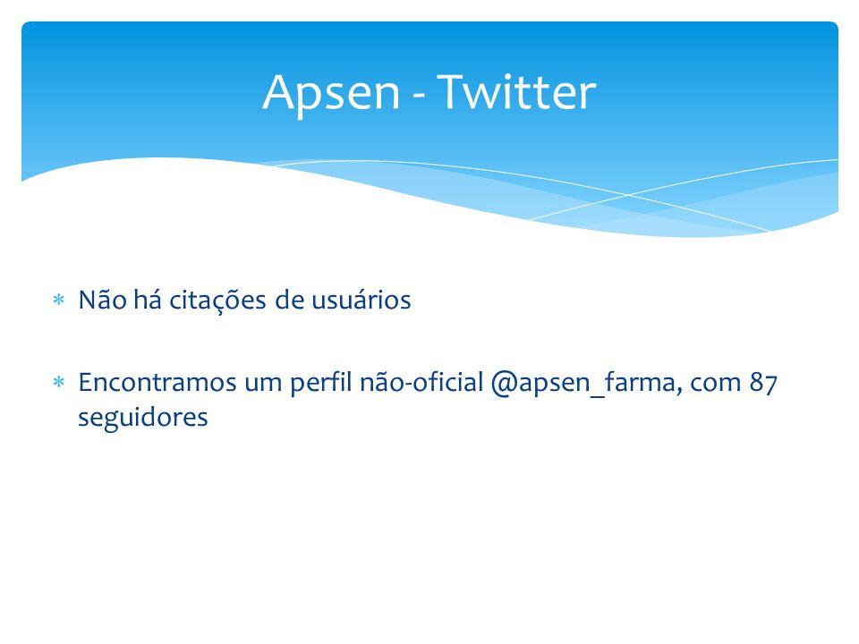 Apsen - Twitter Não há citações de usuários