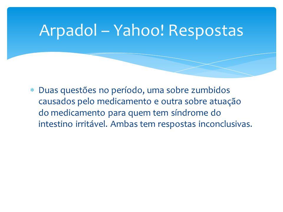 Arpadol – Yahoo! Respostas