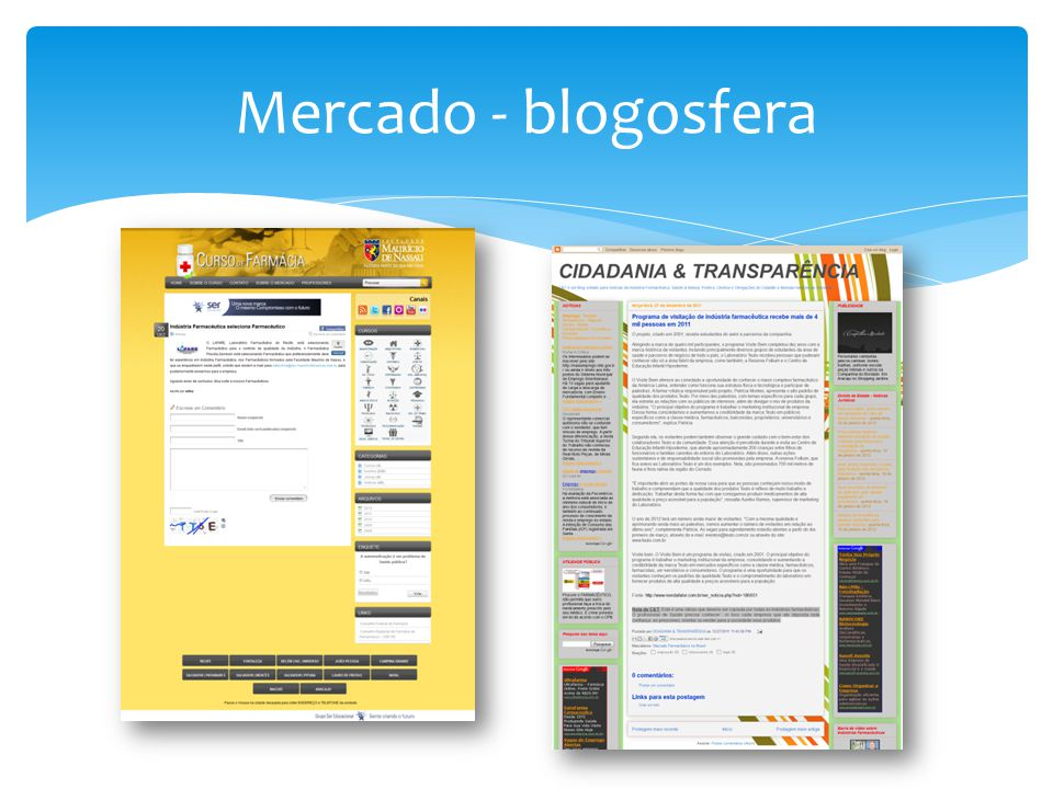 Mercado - blogosfera