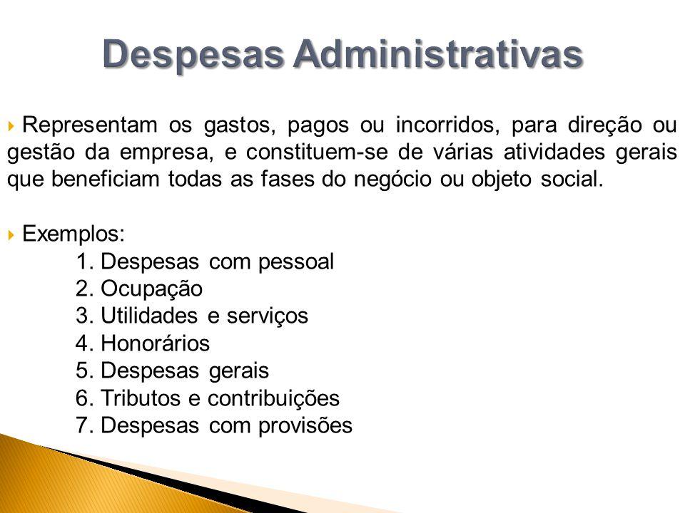 Despesas Administrativas