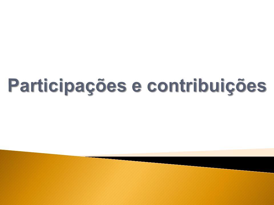 Participações e contribuições