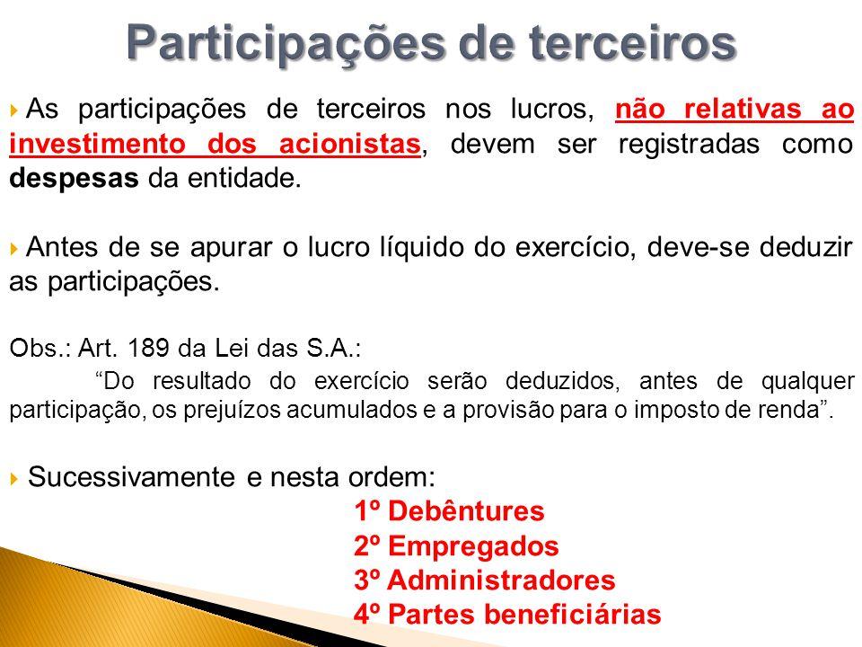 Participações de terceiros