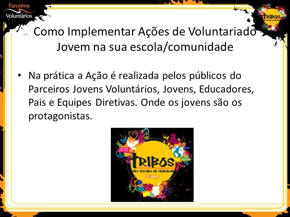 Como Implementar Ações de Voluntariado Jovem na sua escola/comunidade