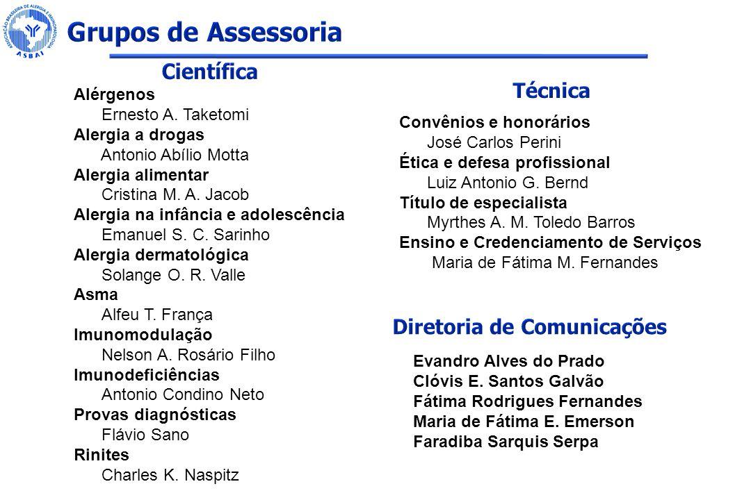 Grupos de Assessoria Científica Técnica Diretoria de Comunicações