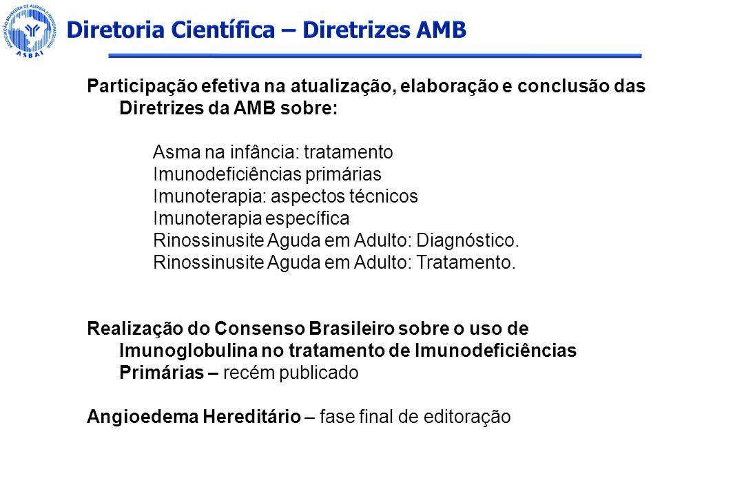 Diretoria Científica – Diretrizes AMB