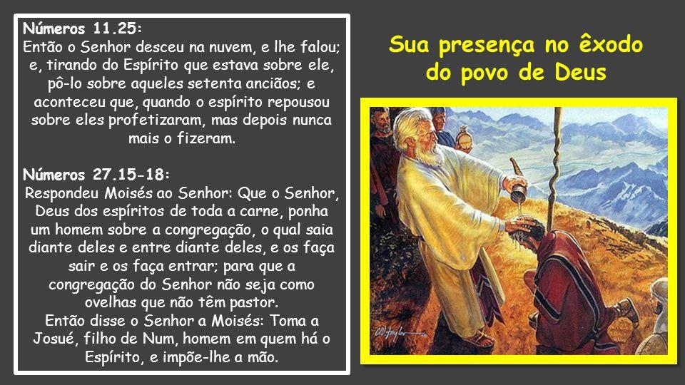 Sua presença no êxodo do povo de Deus