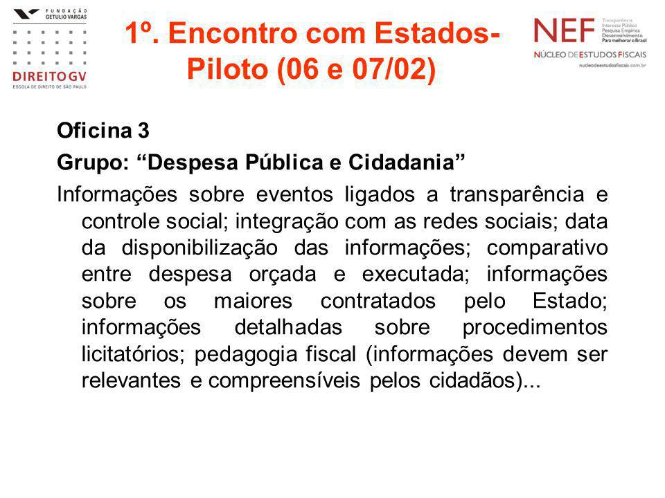 1º. Encontro com Estados-Piloto (06 e 07/02)